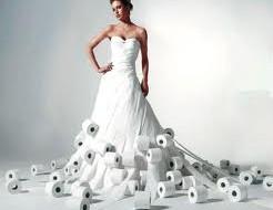 необычные свадебные плать