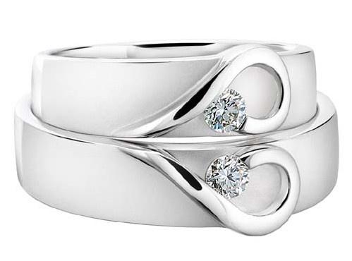 обруч кольца белое золото